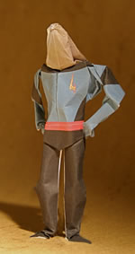 Photo of origami fire engineer figure