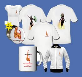 Merchandising, T-shirts, mug, jacket with fire engineers logo